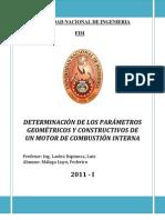 1° INFORME DE MOTORES: Determinación de los parámetros geométricos y constructivos de un MCI