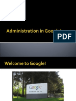 Administration in Google