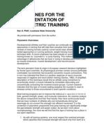 Dan Pfaff Guidelines for Plyometric Training