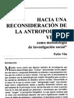 Vila Pablo-Hacia una reconsideración de la Antropologia Visual como metodología de investigación social