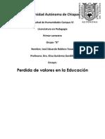 Una Educacion Con Valores (Ensayo) Final Elisa