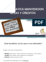 Problematica Mantencion Becas y Creditos