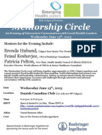 Mentorship Circle Event Poster_EHL June 13th, 2013