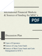 Sources of funding for MNC's