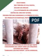 Conap JAMÁS se pronuncia o actúa en contra de circos y zoológicos. Mayo 2013.