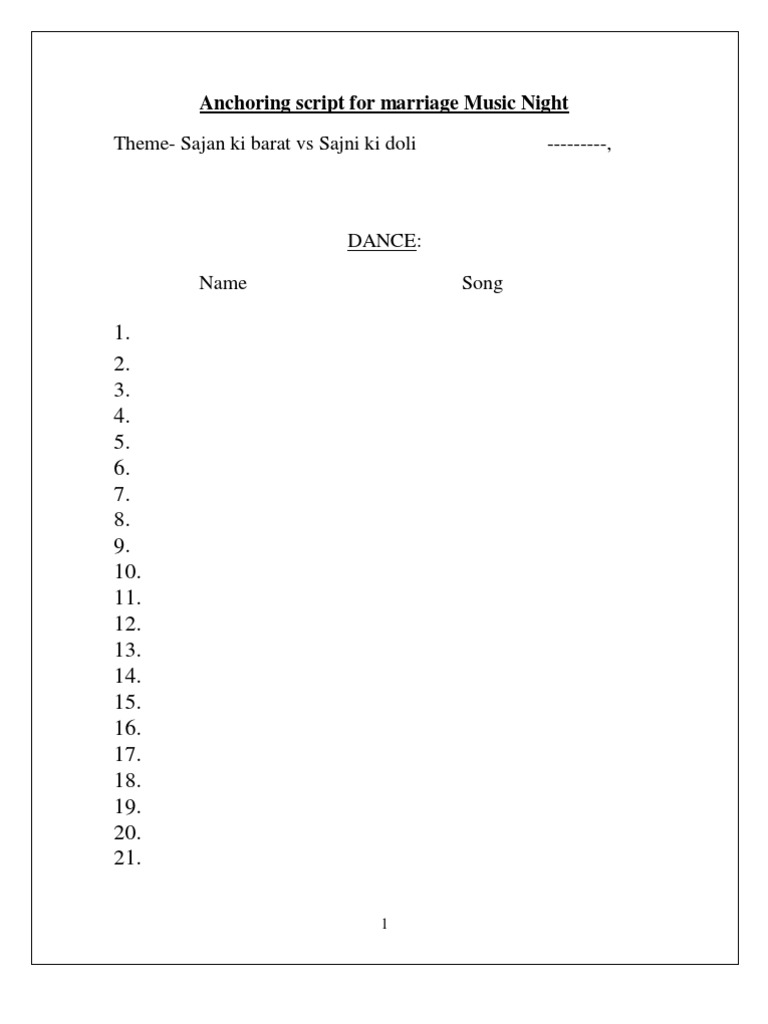 Marriage function anchoring script 1