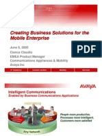 2005-06-06 Creating business solutions for the mobile enterprise - Claudio Cianca - Avaya