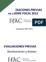 Seminario Cierre Fiscal 2012