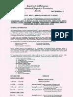 PRC Program of Examination for the June 2013 Nursing Board Exam (NLE)