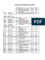 ptu mba Datesheet March 13