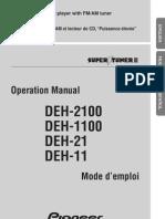Pioneer DEH 1100