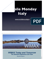 2006-03-06 WiMAX today and Tomorrow - Marcello Salerno - Siemens