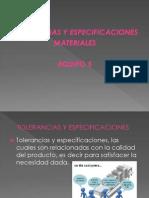 Diapositivas de Tolerancias y Especificaciones