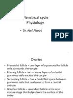 Menstrual Cycle Lect 2013