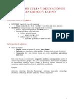 Actividades de composición y derivación con raíces griegas y latinas