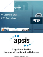 2006-12-11 Tech breakout. Cognitive radio. the end of outdated cellphones - Pierluigi Cremonesi - Apsis