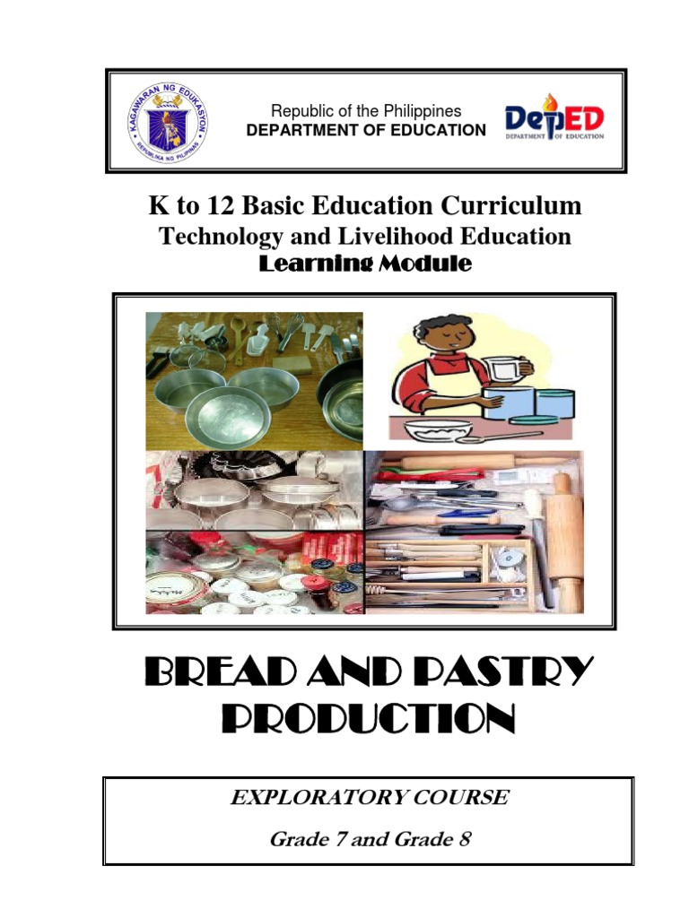 K to 12 TLE Curriculum Guide for Bread and Pastry Production | Baking |  Cakes