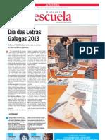 Día das Letras Galegas 2013. La Voz de la Escuela. 15.05.2013