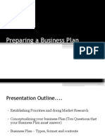 Session 4 -1Preparing a Business Plan