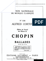 Chopin - Alfred Cortot édition de travail - 4 Ballades