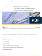 JP Morgan Asset Management -ValueNotes Investment Confidence Index Wave 9