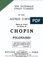 Chopin - Alfred Cortot édition de travail - 7 Polonaises