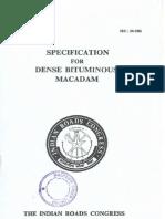 IRC-94-1986 Dense Bituminous Macadam