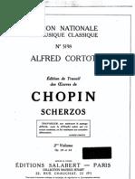 Chopin - Alfred Cortot édition de travail - Scherzos [3-4]