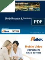 2007-06-04 Mobile video. Interaction is Key to Success - Gianluca Ferranti - Reitek