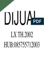 DIJUAL