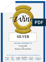 Medalla de Plata en el International Wine Challenge 2013