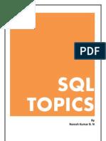 SQL Topics