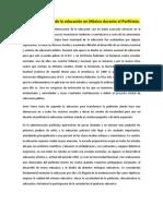 trabajo 5--La modernización de la educación en México durante el Porfiriato
