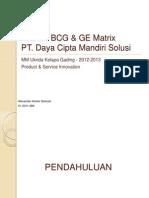 Analisa BCG dan GE