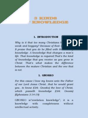 Three Kinds of Knowledge Revelation