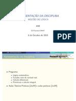 Aula TP1 e TP2 - lógica- Slides Miguel Moreira