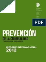 Informe Internacional Criminalidad 2012