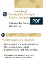 The Evolution of LocalizabilityTesting and Pseudo Localization Models