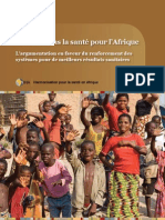 Investir dans la santé pour l'Afrique L'argumentation en faveur du renforcement des systèmes pour de meilleurs résultats sanitaires