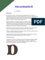 Crear un diseño con tipografía 3D Dream
