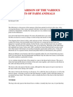 A Comparison of the Various Parts of Farm Animals