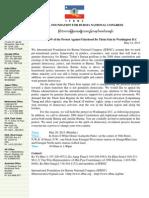 Invitation of the Protest Against Falsehood Bo Thein Sein in Washington D.C