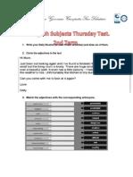 7thGrade Thursday Test 2nd Term