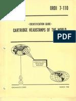 Cartridge Headstamps Og the World - Identification Guide