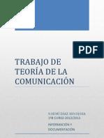 TRABAJO DE TEORÍA DE LA COMUNICACIÓN