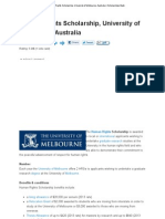 Human Rights Scholarship, University of Melbourne, Australia _ Scholarships Bank