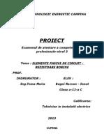 Elemente Pasive de Circuit - Rezistoare Bobine