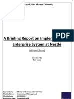 A Briefing Report on Implementing an Enterprise System at Nestlé