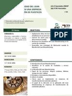 CLAVES Y APLICABILIDAD DEL LEAN MANUFACTURING EN UNA EMPRESA DE TRANSFORMACIÓN DE PLÁSTICOS