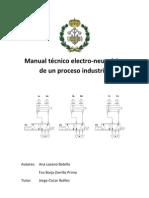 Manual técnico electro-neumático de un proceso industrial